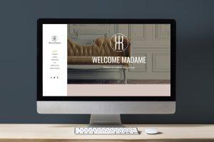 Création site web besançon welcome madame 3