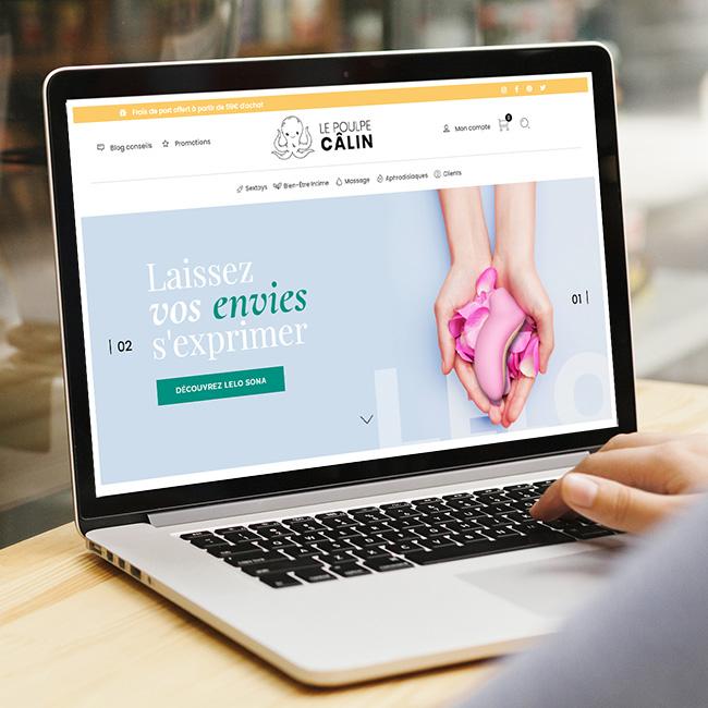 Création boutique en ligne besançon Lepoulpecalin
