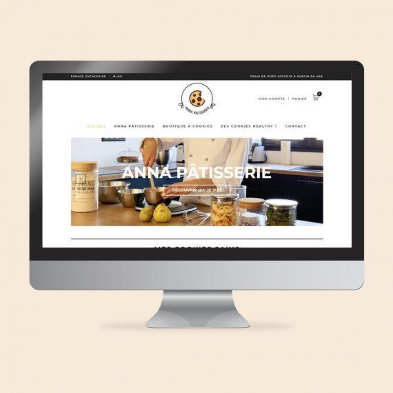 Création boutique en ligne cookies Besançon Anna patisserie