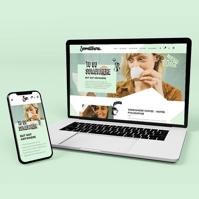 Création boutique en ligne café Besançon