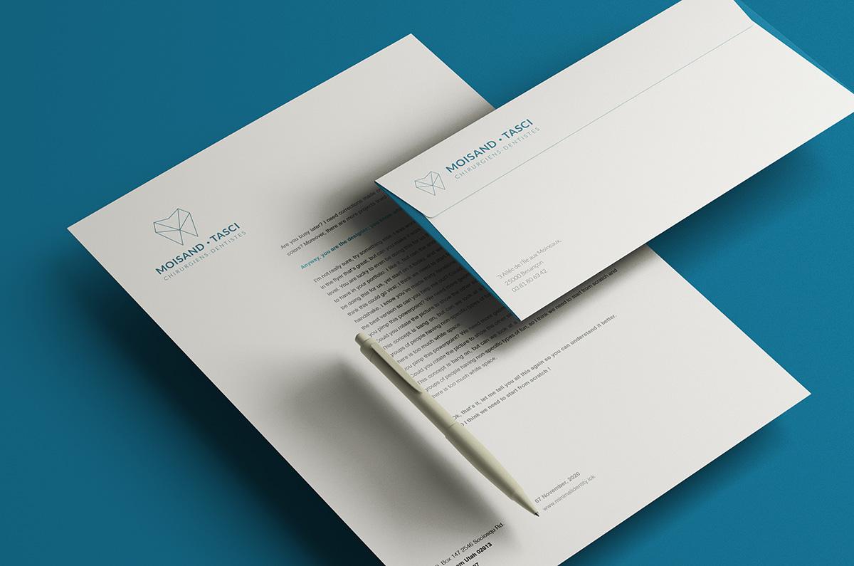 Création papier à entête dentiste Besançon